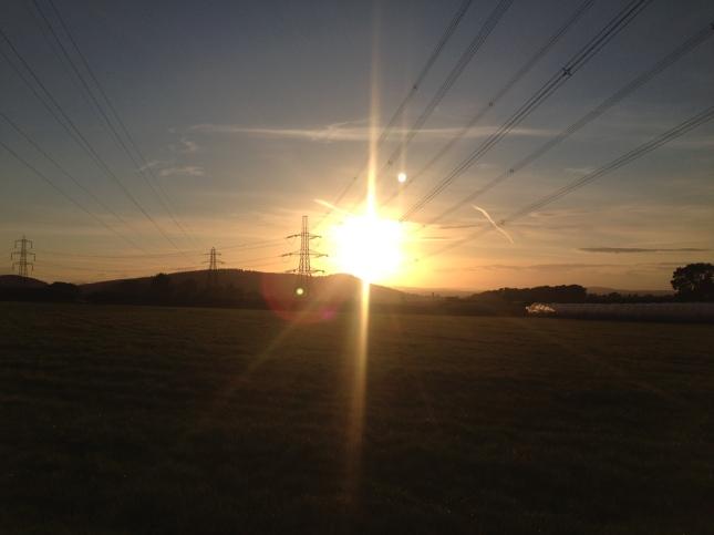 Pylons Sunset